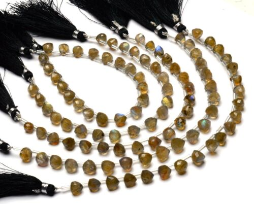 "Trillion Shape Beads 7/"" Natural Gem Blue Fire Labradorite Faceted 7MM Approx"