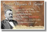 Presidential Series - U.s. President Ulysses S. Grant- Social Studies Poster