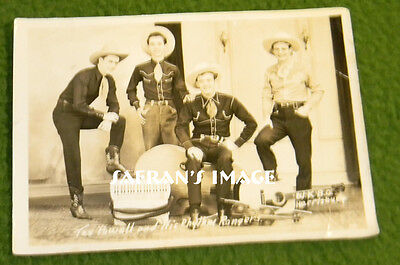Vintage Tex Powell Rhythm Rangers Publicity Photo Hillbilly Collectors Must L@@K