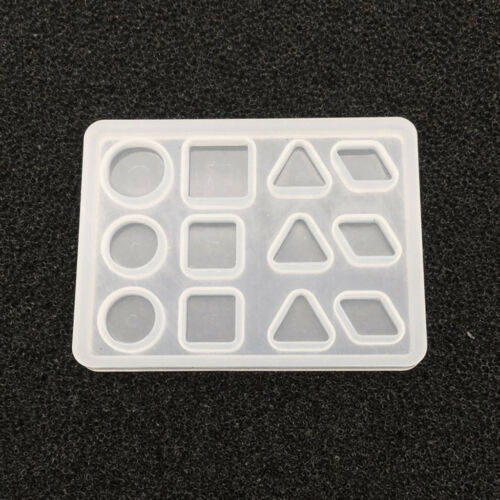 Clear Geometric Shapes Silicone Mold DIY Jewelry Making Resin Craft Casting
