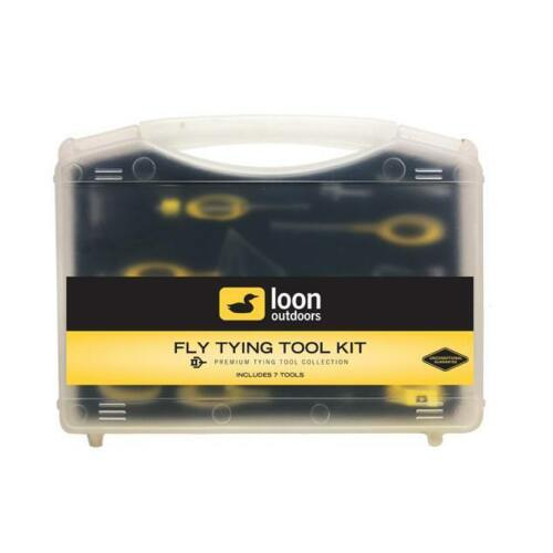 Loon Ergo Fly Tying Tool Kit 7 premium tools with case