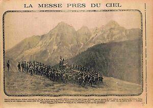 "Alpes Messe Aumônier Militaire Alpini Italia Soldiers Army Italy Italie WWI 1915 - France - Commentaires du vendeur : ""OCCASION"" - France"