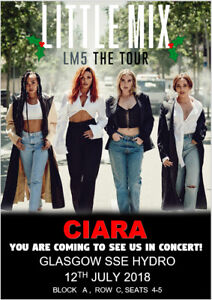 Little-Mix-LM5-Tour-2019-Ticket-Card-Show-Concert-Tickets-Birthday-Christmas-A5