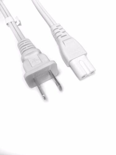 BYBON 3ft 18AWG SPT-2 Non-Polarized Power Cord NEMA 1-15P to C7 2-Slot White UL