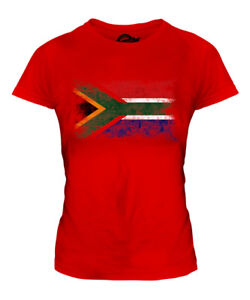 SOUTH-AFRICA-DISTRESSED-FLAG-LADIES-T-SHIRT-SUID-AFRIKA-FOOTBALL-AFRICAN-SHIRT