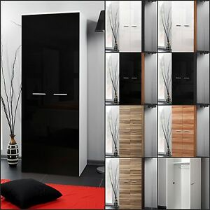 official photos d82c3 8c4d7 Details about Modern Bedroom Wardrobe Two Door High Gloss Wardrobe New Free  P&P Top