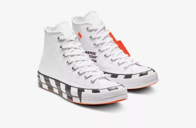 93ad4be86729 Converse X off White Chuck Taylor All Star 70 Hi Virgil Abloh Size 9 ...
