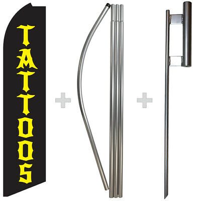 Tattoos Swooper Flag Feather Super Bow Banner