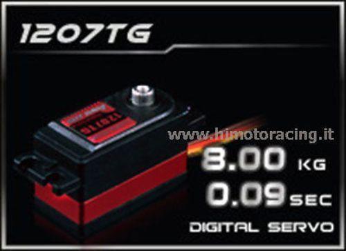 """SERVO DIGITALE 8,0Kg HD""""LOW PROFILE"""" CON INGRANAGGI IN TITANIO HIMOTO HD-1207TG"""