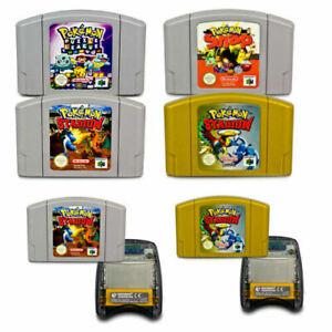 N64 Pokemon Juegos Pal Pokemon Puzzle League Stadium 1 2 Transfer Pak Selección