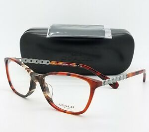 NEW-Coach-Eye-Glasses-Frame-Rx-HC6121F-5519-55mm-AUTHENTIC-Chain-Tortoise-6121