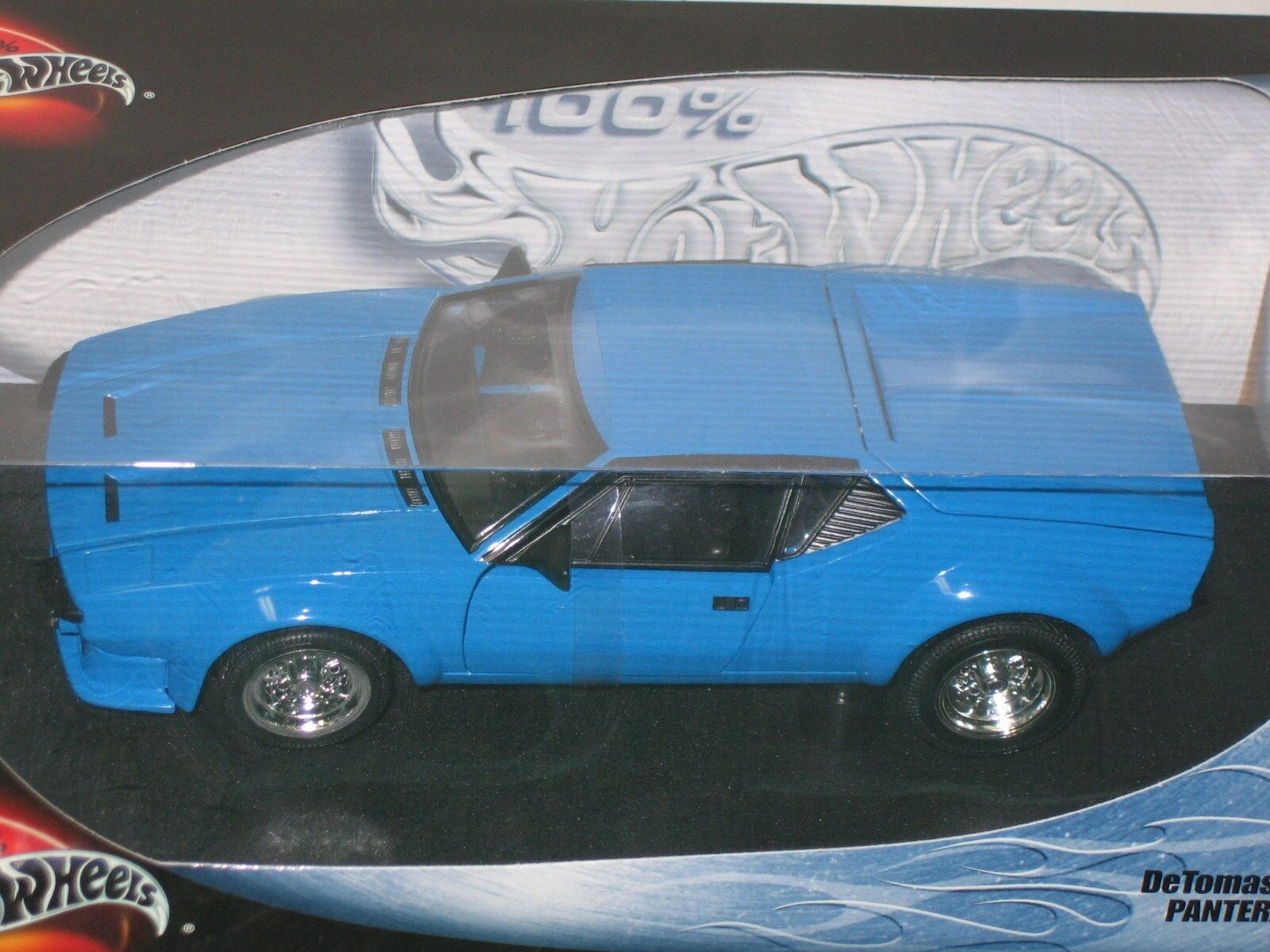 1/18 HOT WHEELS DETOMASO PANTERA , blu , NEW ,