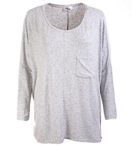 Details zu Cotton Candy Pullover Basic Longsleeve Pullover Shirt grau Gr XS