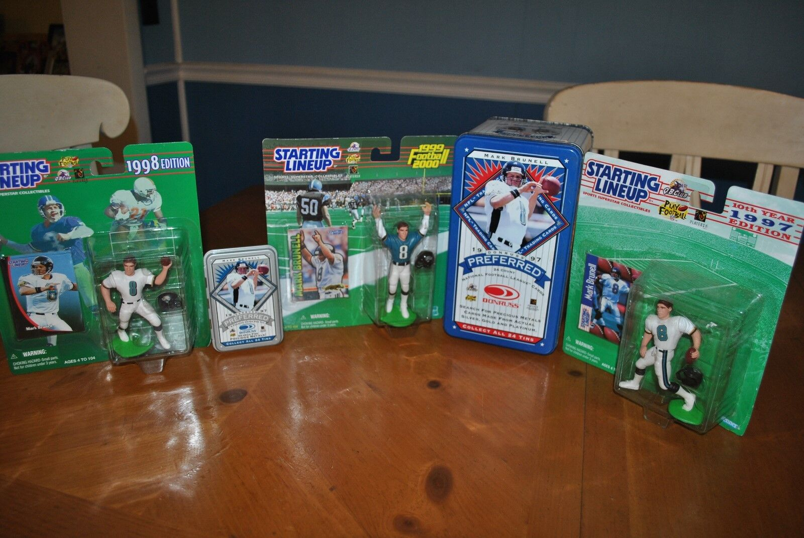 MARK  BRUNELL  JAGUARS  RARE  LIMITED EDITION TINS  &  ACTION FIGURE COLLECTION