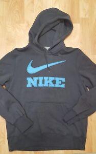 Men-039-s-Large-Nike-Hoodie-Fleece-Pullover-Grey-Blue-Long-Sleeve-Sweatshirt-EUC
