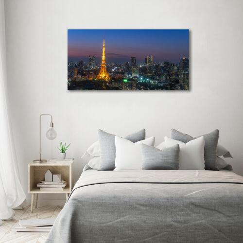 Glas-Bild Wandbilder Druck auf Glas 140x70 Deko Sehenswürdigkeiten Turm in Tokio