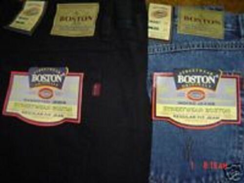 MENS NEW BOSTON STRONG TOUGH WORK CASUAL WORK JEANS BIG  50  INCH WAIST FULL FIT