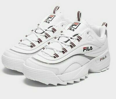 Rare FILA RAY X D wht$ Baskets, UK9, BlancRougeBleu, 1RM00904 125 | eBay
