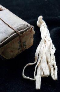 Strang 2,5m X 5mm Unbenutzt Weiß/crem Um 1900/10 Antik Baumwoll Band Org