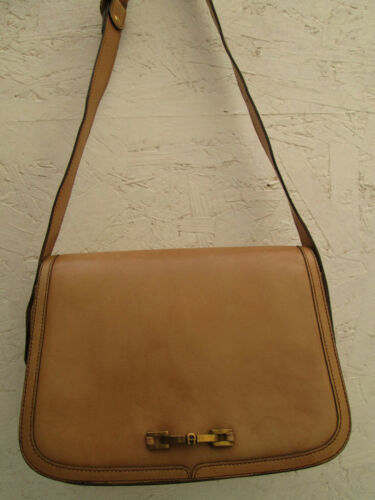 Etienne t À Authentique Vintage Aigner Sac Bag Cuir beg Main OOpqPaw