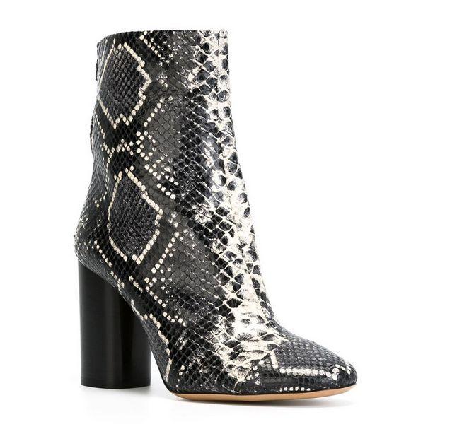 Zapatos De Cuero Damas Piel De Serpiente Tobillo Tobillo Tobillo botas Con Tacón Alto Gladiador Plus Sz adc0d3