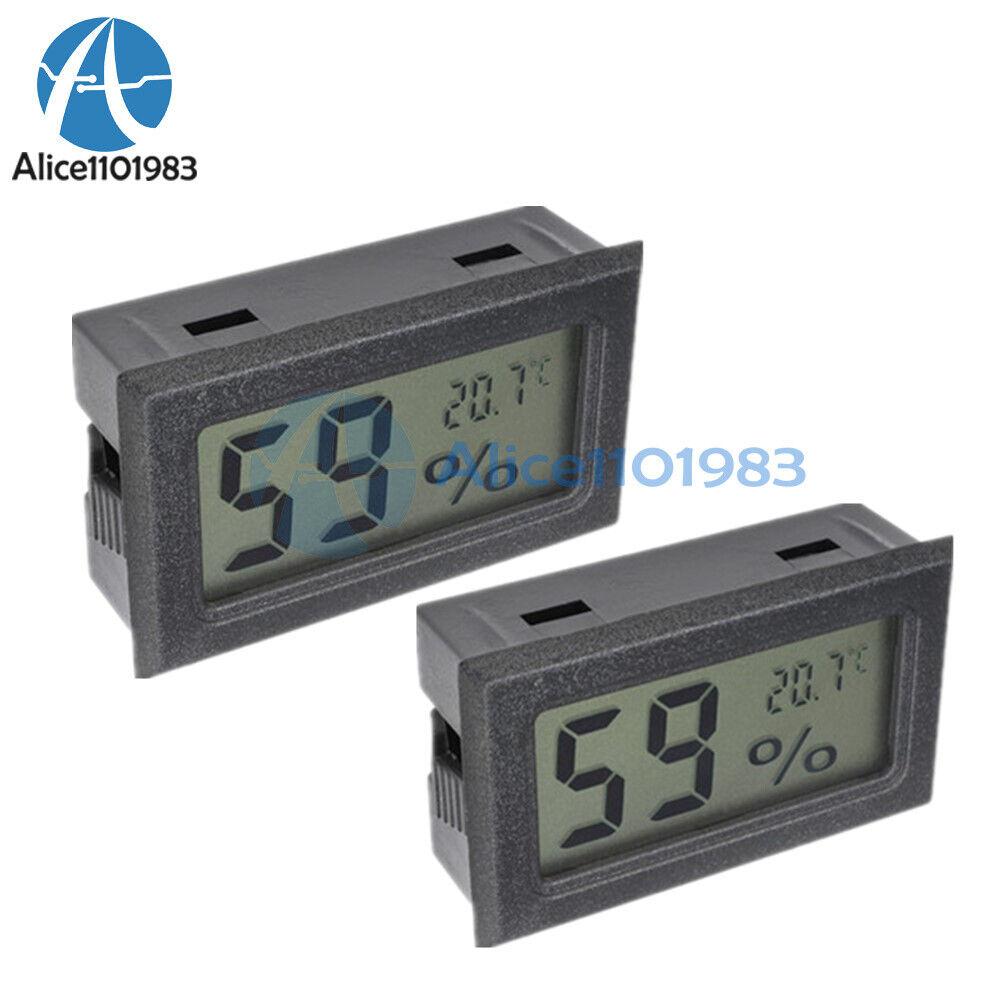 2PCS Digital LCD Thermometer Hygrometer Humidity Temperature Meter Indoor