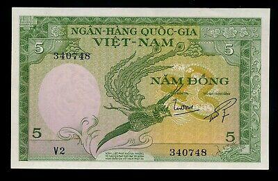 1955 P-13 ND South Vietnam Viet Nam 5 Dong A-UNC