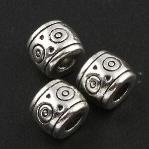 20-Metallperlen-Spacer-Silber-6mm-Zwischenteil-fuer-Schmuckherstellung-BEST-F123