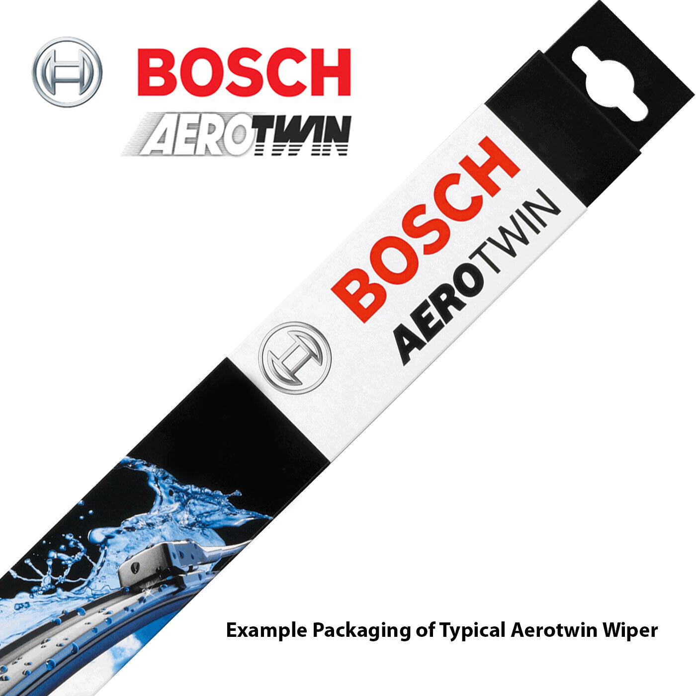 """New Aerotwin Front Windshield Wiper Blade PAIR 650//400mm 26/"""" 16/"""" A945S BOSCH"""