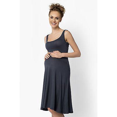 Ladies Maternity Sleeveless Skater Dress Knee Length Tunic Plus Sizes 8-18 FM19