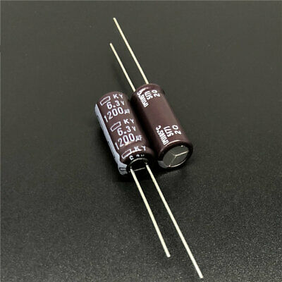 50pcs 1200uF 6.3V 8x20mm NCC KY 6.3V1200uF Low ESR Long Life Capacitor