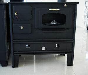 Woodburning cookin stove oven with glass prometey 7 kw cast iron top nar type ebay - Cucinare con il forno a legna ...