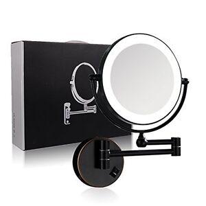 Gurun Wall Mounted Led Lighted Makeup Mirror 7x