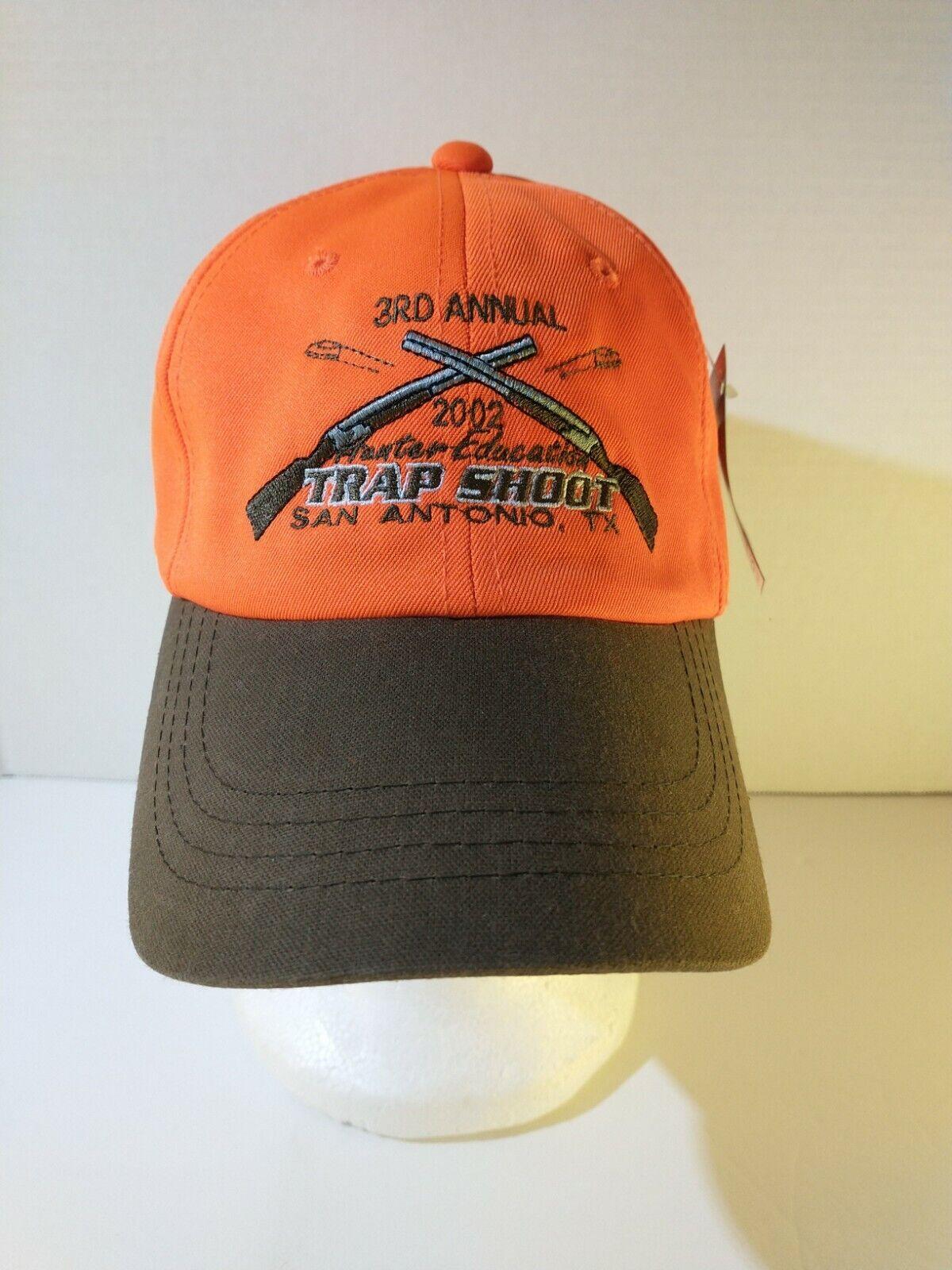 Texas Wildlife Resource Agency Hunter Education 2002 Trap Shoot Hat Blaze Orange