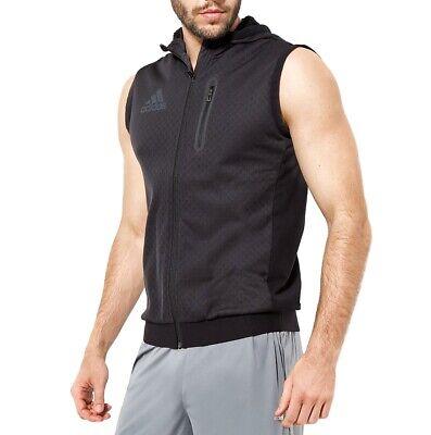 Adidas s3 Hoody Veste Hoodie Vest Capuche Entraînement Gilet fonction Hommes Noir | eBay
