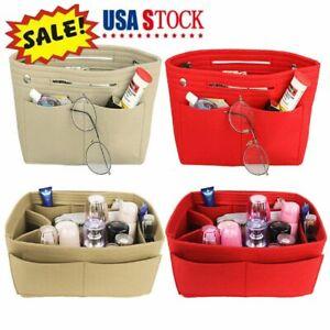 Women-039-s-Handbag-Organizer-Bag-Purse-Insert-Bag-Felt-Multi-Pocket-Tote-Useful-Bag