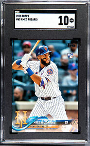 2018-Topps-Amed-Rosario-RC-Rookie-63-SGC-10-Gem-Mint-New-York-Mets
