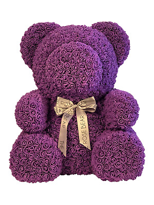 Bomboniere Pink Bear on Wooden Box Round D 60xh 90mm Set 2pz Art 049020