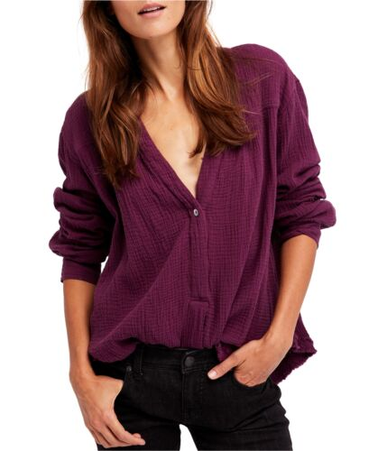 Free People Womens People Changing Horizons Button Down Blouse
