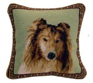 """Springer Spaniel Dog Needlepoint Pillow 10/""""x10/"""" NWT"""