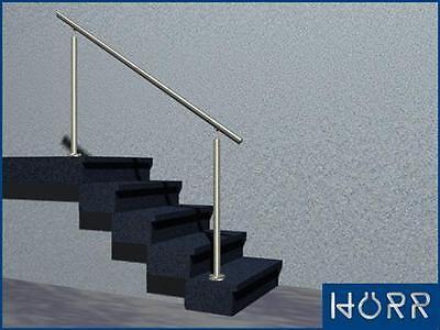 Edelstahl Geländer Treppengeländer Boden Handlauf o. Füllung bis 4,5m Bausatz VA
