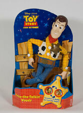 DISNEY PIXAR TOY STORY TWICE THE TALKIN WOODY DOLL BRAND NEW TALKING HTF MATTEL