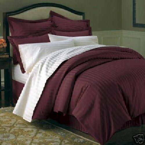 Striped Duvet Cover Set- 100% Combed Cotton 600 Thread Count 3PC Duvet Cover