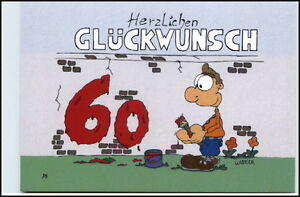 Details Zu Glückwunsch 60 Geburtstag Karikatur Karrich Postkarte Ungelaufen Postcard