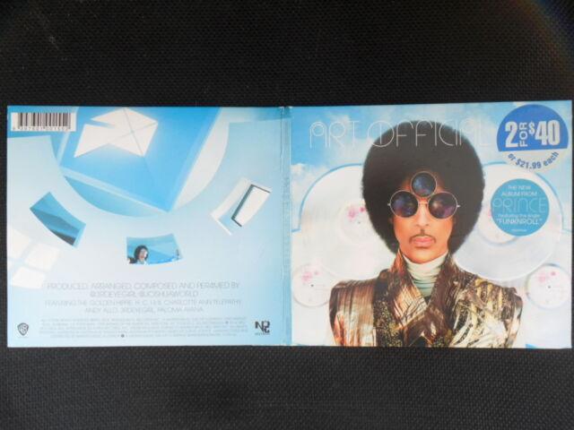 Prince/Art Official Age feat. 3rdeyegirl Australia Digipack 13 Track/CD