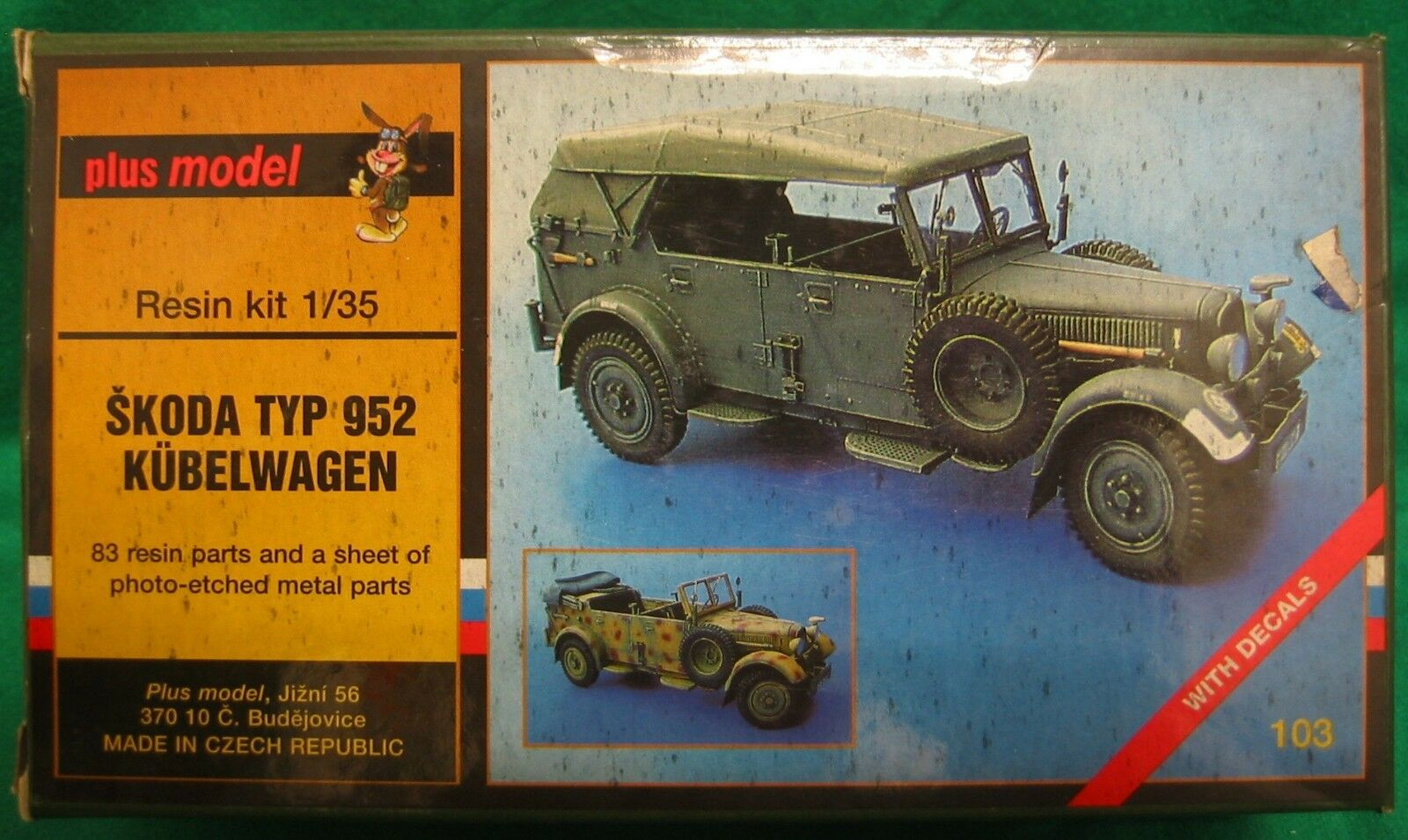 PLUS MODEL 103 SKODA TYP 952 KUBELWAGEN 1 35