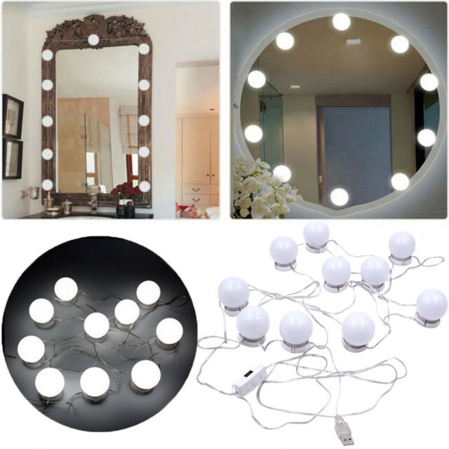 Hollywood Style Led Vanity Mirror Lights Makeup Dressing Dimmer With 10 Bulbs For Sale Online Ebay
