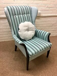 Parker-Knoll-Wing-back-chair-model-750-newly-Upholstered-in-blended-wool