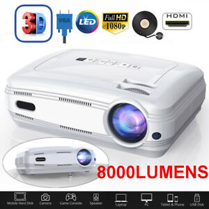 LESHP-8000-Lumen-1080P-3D-Home-LED-Projector-Multimedia-HDMI-USB-SD-VGA-3-5mm-UK