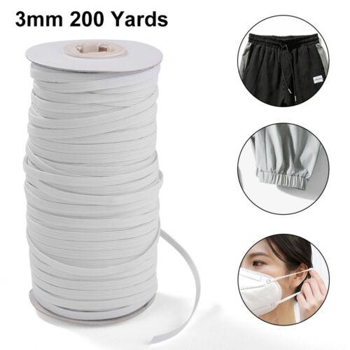 100 250 Yards Gummiband Gummilitze Elastikband Wäschegummi Schwarz Weiß